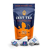Zest Tea Té Energético Premium, Alternativa Tradicional Natural y Saludable Alta en Cafeína al Café Negro, 150 mg de Cafeína por Porción, Té Chai Sabor Masala Especiado, Bolsa con 20 Bolsitas…