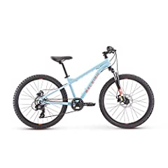Aluminum frame with low standover for easy on/off SR Suntour suspension fork offers 50mm of travel to soak up bumps Mechanical disc brakes provide excellent control Fits kids 53 to 61 inches tall or approximately 8 to 12 years old Pedals included; li...