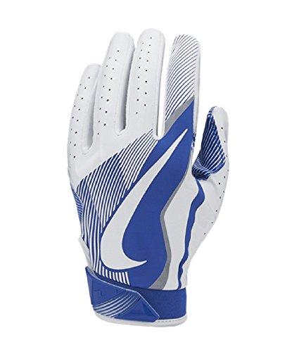 Nike Youth Vapor Jet 4.0 Receiver Gloves (White/Game Royal, Small)