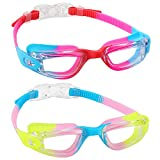 aegend Kids Swim Goggles, Pack of 2 Swimming Goggles for Children Boys