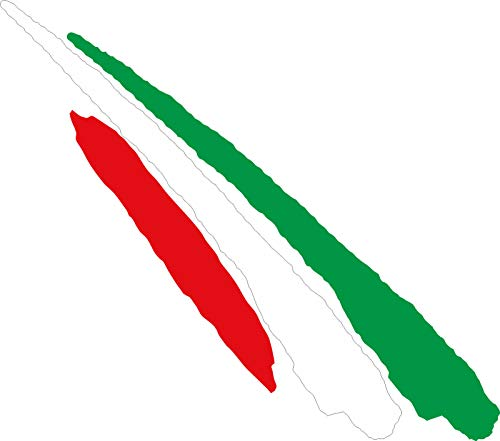 JINTORA - Sticker Decorativo per Autoadesivo - Bandiera dell'Italia - Auto Bicicletta Toilette sintonia Laptop colorato 110x30mm