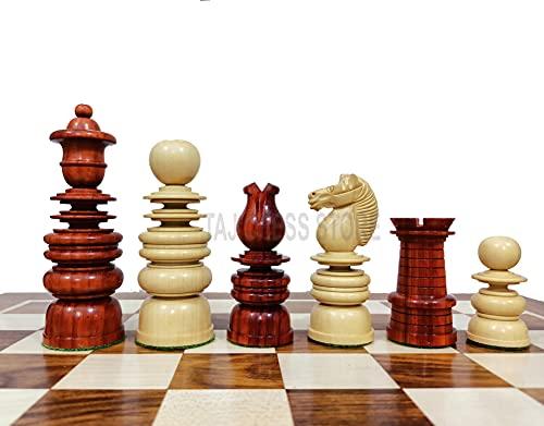 Desconocido Generic Piezas de ajedrez St. George Staunton en Palo de Rosa y boj - Piezas de ajedrez de la Serie Calvert con 2 Reinas adicionales - Rey de 4 '| Juego de ajedrez de Lujo