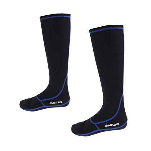 SM SunniMix 3mm NEOPREN SOCKEN STRÜMPFE Erwachsene Kajak Tauchen Surfen Strand Stiefel Stiefeletten - schwarz blau S