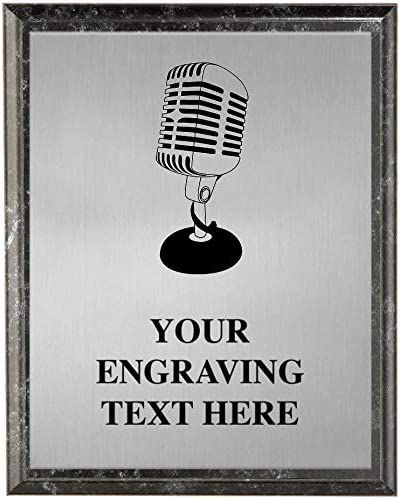 Crown Popular popular Awards Microphone Plaques Max 57% OFF Pla Singing Personalized Trophy
