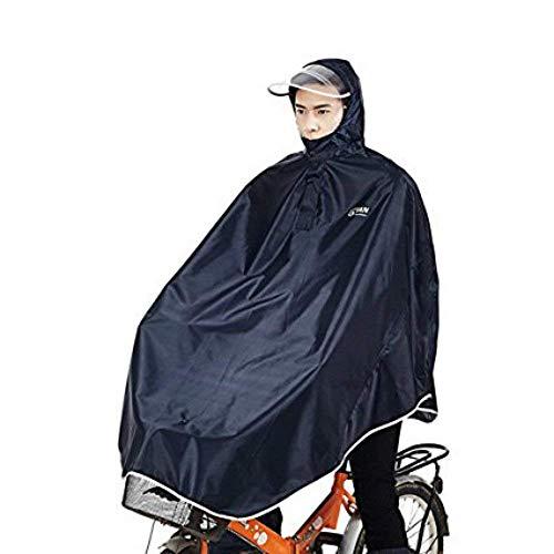 sorliva Poncho Imperméable Coupe-vent à Capuche pour Cycliste,Bleu foncé