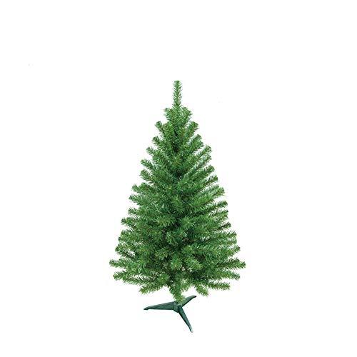 HENGMEI 60cm PVC Weihnachtsbaum Tannenbaum Christbaum Grün künstlicher mit ständer ca. 50 Spitzen Lena Weihnachtsdeko (Grün PVC, 60cm)