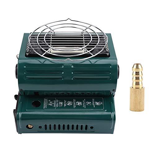 TOPINCN Portable Outdoor Gasheizung Dual Use Outdoor Heizung Kochen Butangas Heizung für Reise Camping Wandern Angeln Patio(Grün Dual Gas Dual Use)