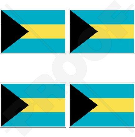 Bahamas Drapeau du Commonwealth bahamienne 5,1 cm (50 mm) bumper-helmet en vinyle autocollants, Stickers x4