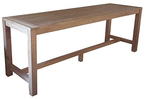 PEGANE Table de Jardin en Teck - Dim : 250 x 75 cm