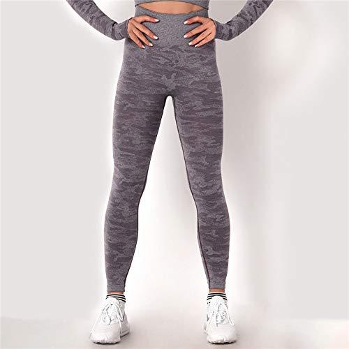 GUOYANGPAI Leggings sin Costuras vitales, Leggings Deportivos para Mujer para Mujer, Ropa Deportiva para Correr Fitness para Mujer,Purple,L
