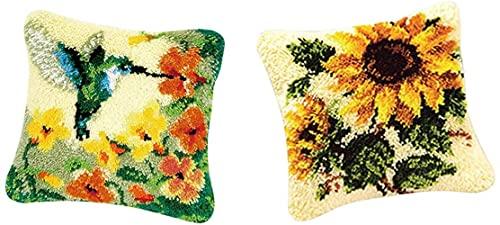Juego de 2 Ganchos de Cierre Floral - Kit de fabricación de Fundas de Almohadas - Adornos para el hogar de Bricolaje