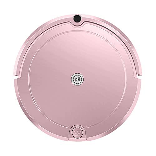 GDYJP Robot aspiradora para el Robot casero aspiradora mojada fregando HEPA Filtro Big Water Tank Planned Route Aspirateur (Color : Pink) ✅