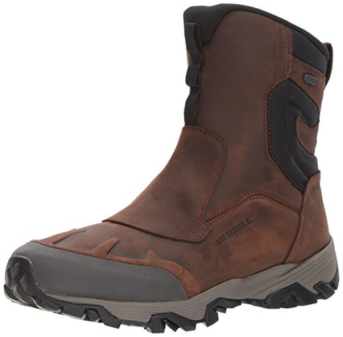 Merrell Men Coldpack Ice+ 8' Zip Polar Waterproof Snow Boot, Brown, 8.5 US