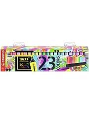 Marcador STABILO BOSS ORIGINAL - Set de mesa edición 50 aniversario con 23 colores (9 fluorescentes y 14 pastel)