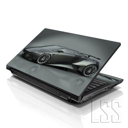 LSS 15 39,62 cm Notebook Sticker Skin Vinyl mit 33,78 cm 35,56 cm 39,62 cm 40,64 cm HP für Lenovo Apple Asus Acer Compaq Dell (2 Wrist Pad inklusive gratis) Grau Lamborghini