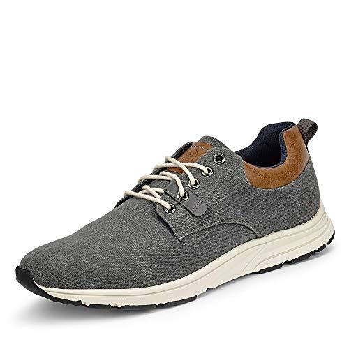 BULLBOXER 955X25288CDGCOSU00 Herren Sneaker aus Textil Innensohle herausnehmbar, Groesse 43, grau