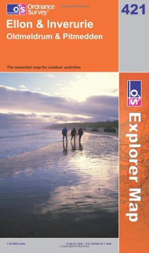 OS Explorer map 421 : Ellon & Inverurie