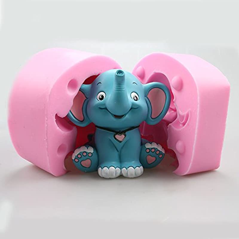 Pinkie Tm Elephant Animal Cartoon Stereo Mousse Chocolate Ice Cream Cake Baking Butter Hot Pot Silicone Mold