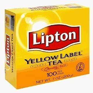 Lipton Yellow Label Tea Bags-100'sx4