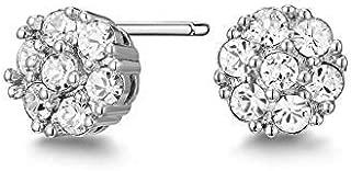 Mestige Whitney Earrings with Swarovski® Crystals (Silver) Gifts Women Girls, Classic Stud Earrings