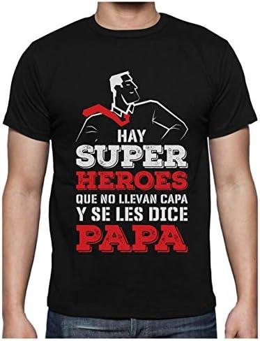 Camiseta para Hombre - Regalos para Hombre Regalo Padre Divertido - Mi Papá es mi Súper Héroe