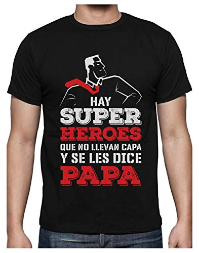 Green Turtle Camiseta para Hombre - Regalos para Hombre, Regalos para Padres Originales, Regalo Padre Divertido - Mi Papá es mi Súper Héroe - XX-Large Negro
