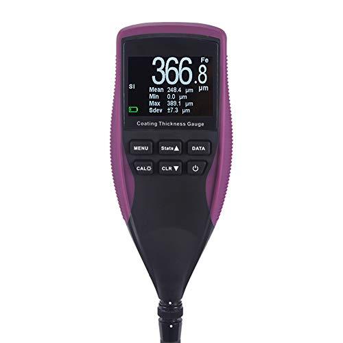 FENNGG Schichtdickenmessgerät Auto Genauigkeit ± (3{f6674455462f13dc42cc39a26a95610280c8832012a721d0c26d774d2d79d717}+2um) mit Hintergrundbeleuchtung LCD-Anzeige, inklusive Koffer, Messbereich 0 bis 1250um, Lackmessgerät kfz