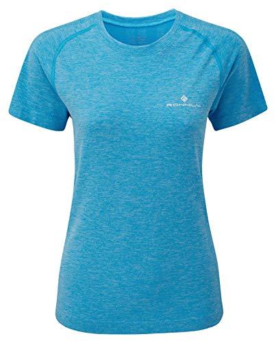 Ronhill T-Shirt pour Femme Infinity Marathon S/S M Bleu Ciel chiné.