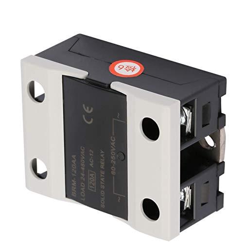 Relé de estado sólido, relé de estado sólido de 60 A, semáforos sin chispa para fotocopiadoras Luces de señal de computadora(BRM-120AA)