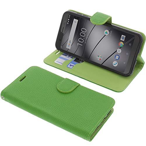 foto-kontor Tasche für Gigaset GS185 Book Style grün Schutz Hülle Buch
