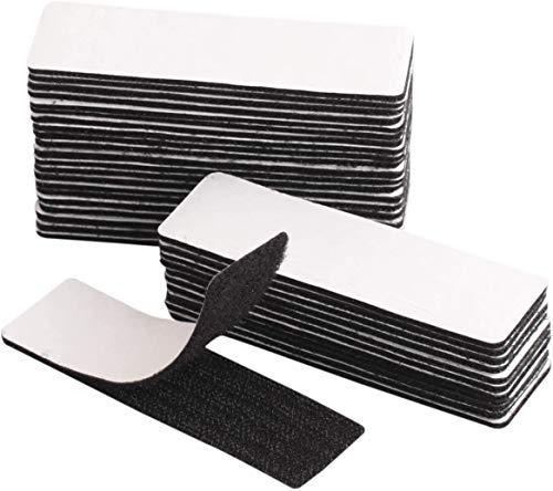 30Pcs Doppelseitige Klebepads,Klettband Selbstklebend Hochleistungs-Klebepads, entfernbares, extra stark klebendes Montageklebeband für Wände,Boden,Tür,Kunststoff,Metall (30x100mm)