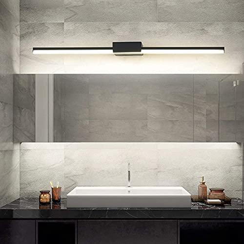 DIRIGIÓ Bathlight Modern Super Long Long Bath Mirror Lámpara NeuTal White 4000K Mirror Light Baño,IP44 Luz de Pared de Hardware Impermeable a Prueba de Agua (Color : Black 60cm)
