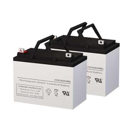 Genuine SigmasTek 12 Volt 35 AmpH SLA Replacement Batteries - Set of 2