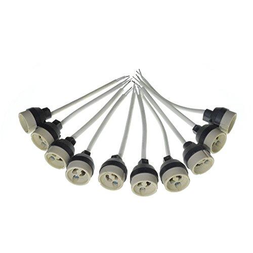 10 Stück GU10 Fassung 230V Anschlussbuchse für Lampenfassung GU10 Halogen und LED Spotleuchten