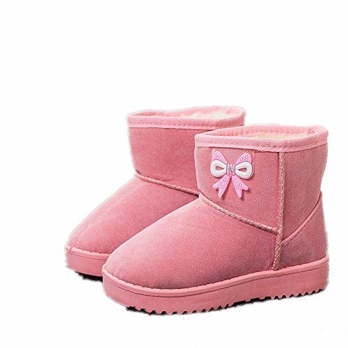 Baby Stiefel, Chickwin Baby Mädchen Stiefel Kinderschuhe Weich Und Bequem Rutschfest Warme weiche Winterschuhe Leder Schneestiefel