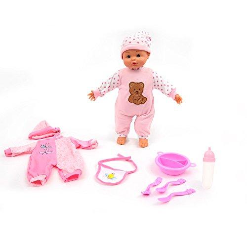 Mamatoy Mama MIA Muchos Versos y Juegos Mille, muñeca Que Habla con Accesorios de Vestir, 24 Efectos de Sonido, 36 cm, de Color Rosa MMA34000