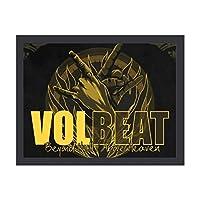 Volbeat アートデリ ポスター パネル 絵キャンバスの壁アート 木製の枠 アートワーク 壁飾り 壁ポスター おしゃれ 30*40cm 玄関やリビング お祝いや贈り物に 雰囲気 癒し 外枠付き