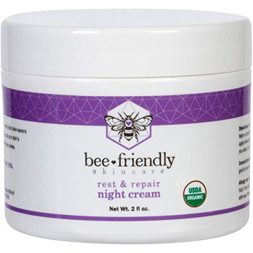 Best Night Cream Natural USDA Certified Organic Night Cream By BeeFriendly, Anti Wrinkle, Anti...