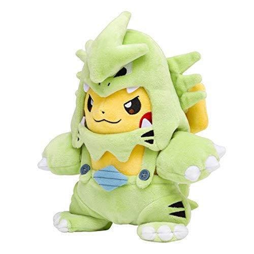 Pokémon Pikachu Plush Stuffed Animal Toys with Smiley Face and MEGA Charizard 8 Poncho and Gifts for Children (H)