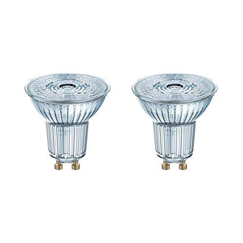 Osram Star+ Lot de 2 Spots LED | Culot GU10 | Forme Réflecteur 36° | Blanc Chaud 2700K | 3,3W (équivalent 35W)
