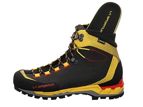 LA SPORTIVA Herren Trango Tech Leather GTX Bergschuhe, Black/Yellow, 42.5 EU
