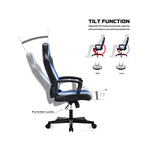 IntimaTe WM Heart Silla de Escritorio, Silla Gaming Ergonómica Regulable Altura Ajustable 360°Giratorio PU 150KG