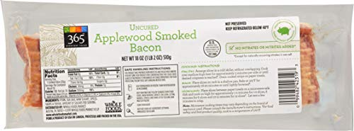 365 Everyday Value, Uncured Applewood Smoked Bacon, 18 oz