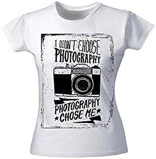 Moneysavers Premium T-Shirts for Girl I Do't Choose Photography Choose me T-Shirts-Large-White