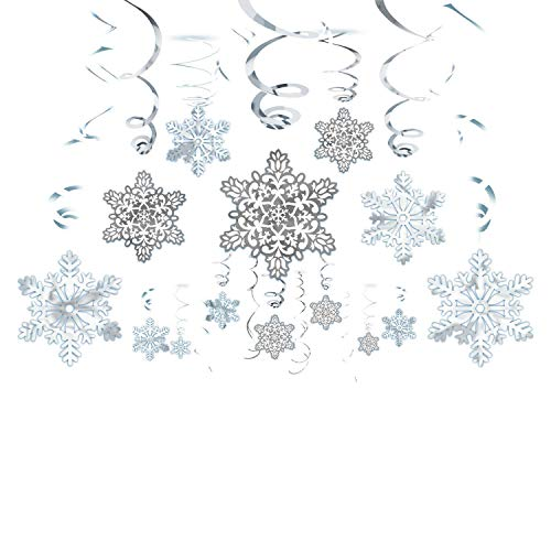 Amscan International 670550 Swirl Flocon de Neige Décoration à Suspendre Lot