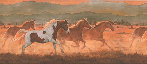 Tapetenbordüre Pferde, vorgeklebt