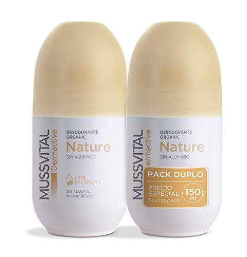 Desodorante Mussvital Dermactive Nature Pack 2 Uds x 75ml. Roll-on