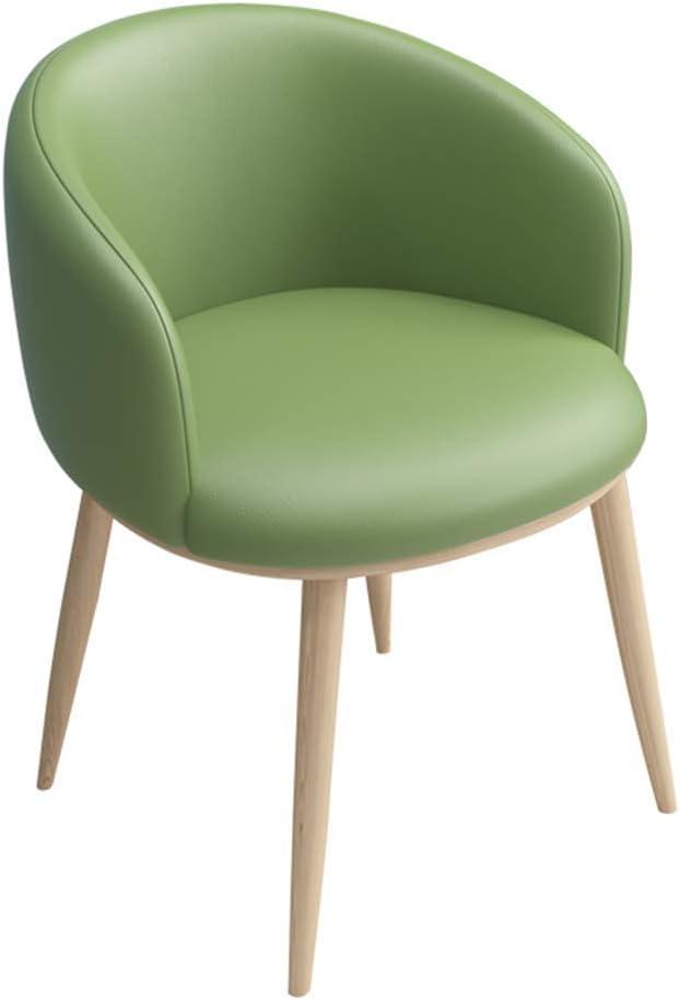 HTL Chaise de Salle de Maquillage Comptoir Comfy Chair Cushioned Pu Siège Pour Bureau Salon Salle À Manger Cuisine,Vert Blanc