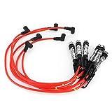 Qiilu 6 uds Cable de bujía Cable de encendido Cable de chispa 1J0998031 Ajuste para Corrado VR6 2,8 2,9 con varilla de tracción