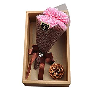 Best Gift for Mother,7pcs Artificial Silk Carnations Flowers Bouquet Home Wedding Decoration for Bridal Wedding Bouquet